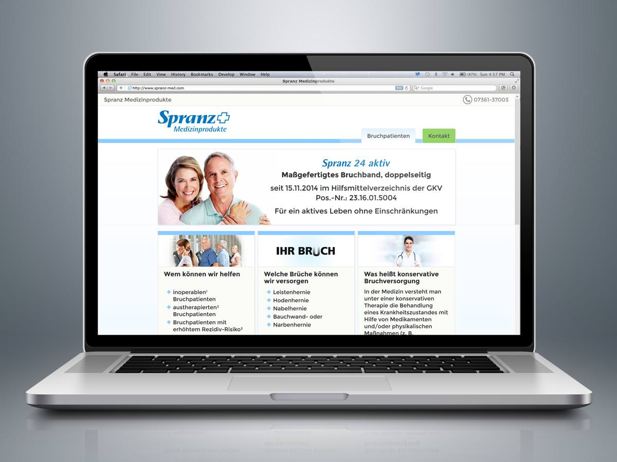 web design medical products